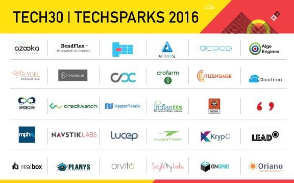 TechSparks Tech30 - 2015, YourStory